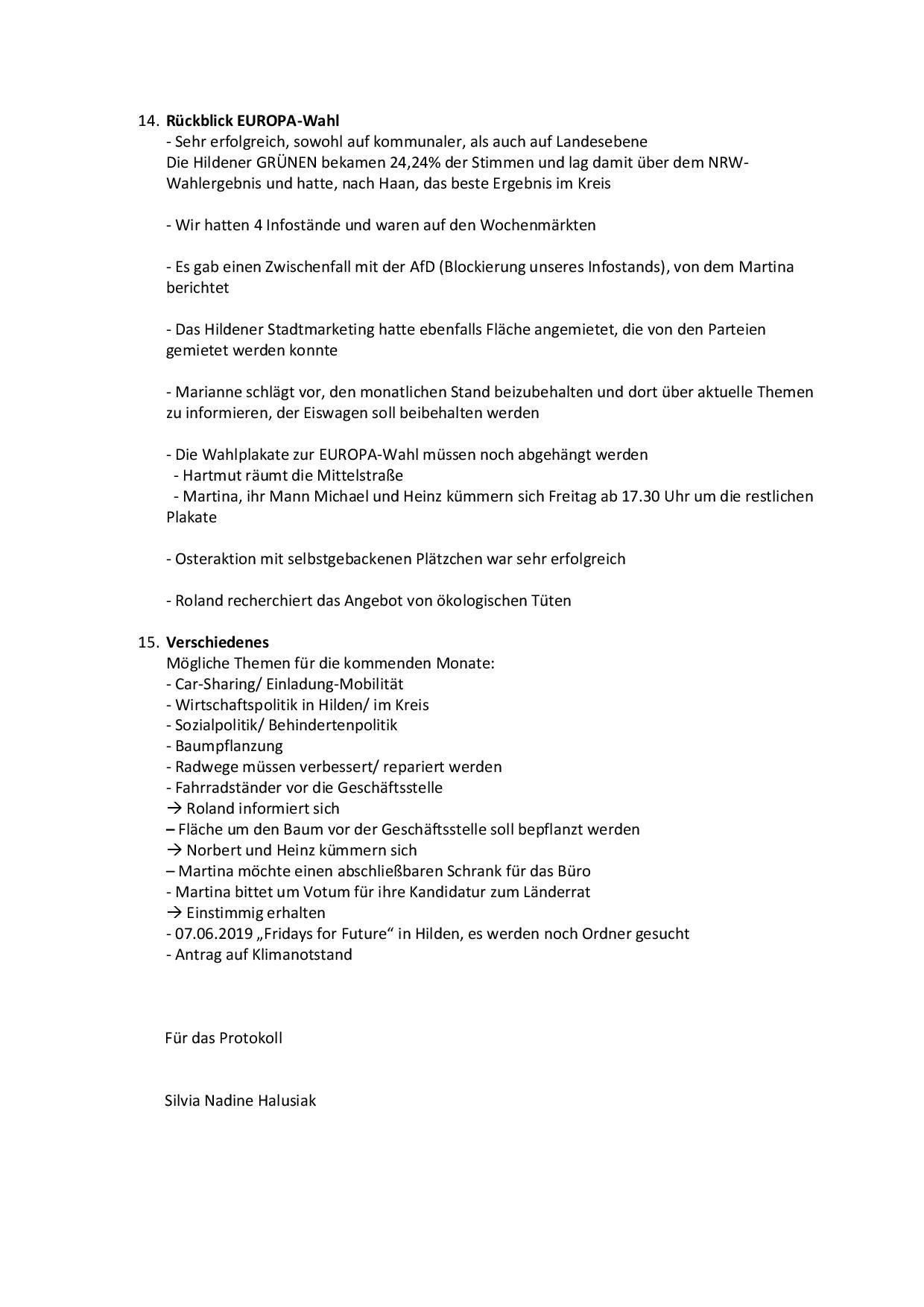 Protokoll 146. Mitgliederversammlung Seite 4